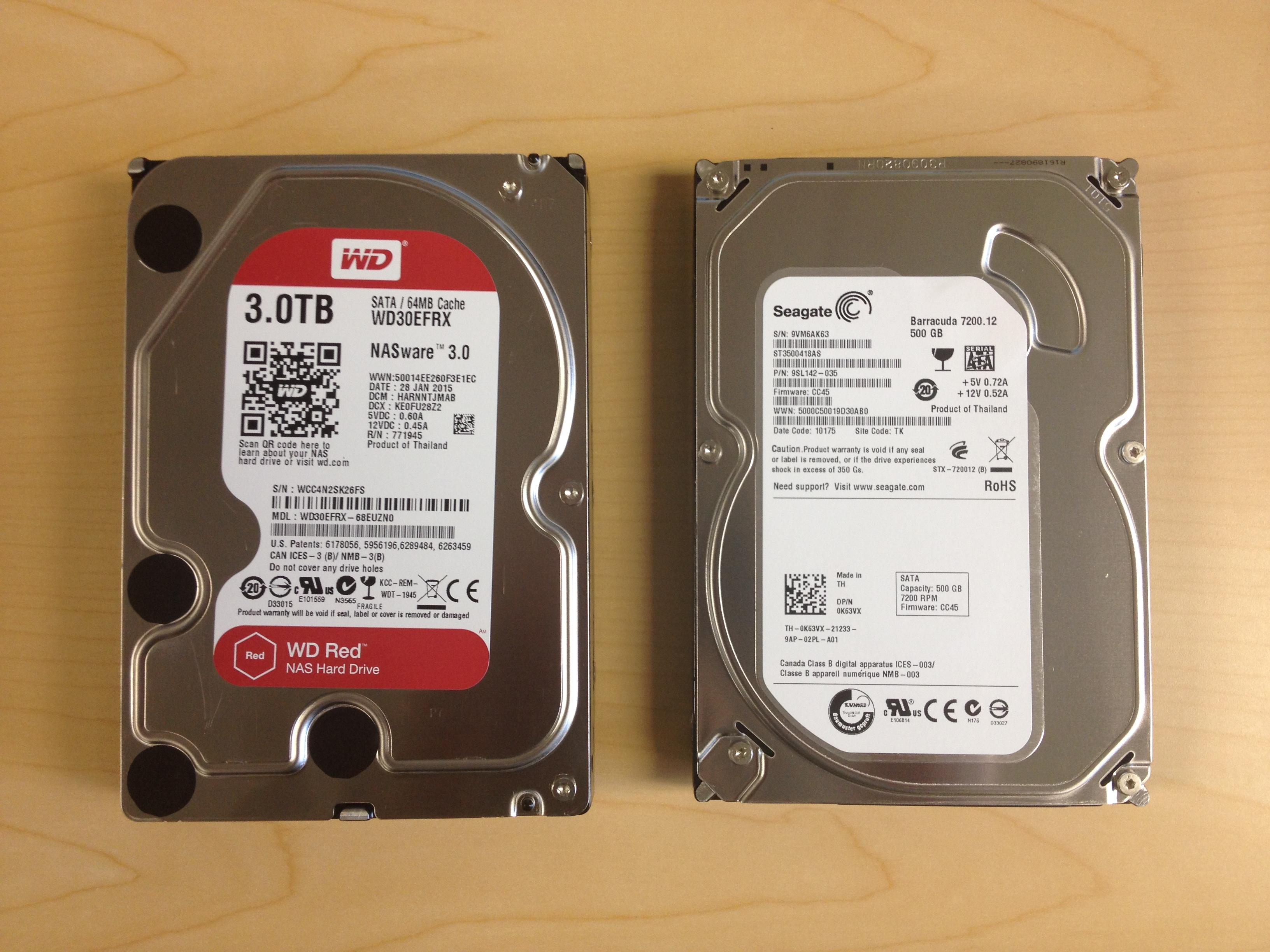 "Western Digital and Seagate 3.5"" Desktop Hard Drives"